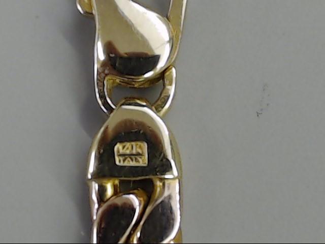 ESTATE OPEN LINK 14K ROSE GOLD BRACELET AURAFIN ITALY CURB CUBAN