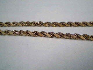 """18"""" Gold Rope Chain 14K Yellow Gold 7.1g"""