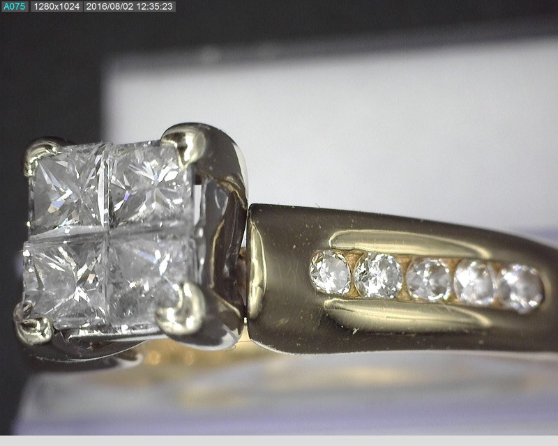 Lady's Diamond Fashion Ring 14 Diamonds 1.12 Carat T.W. 14K Yellow Gold 6g
