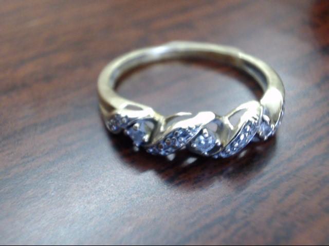 Lady's Gold-Diamond Anniversary Ring 13 Diamonds .19 Carat T.W. 10K Yellow Gold