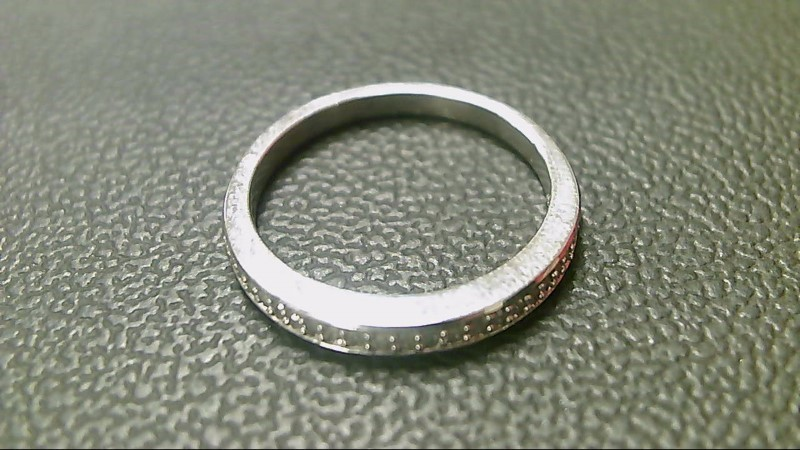 Lady's Silver-Diamond Ring 18 Diamonds .18 Carat T.W. 925 Silver 2.2g