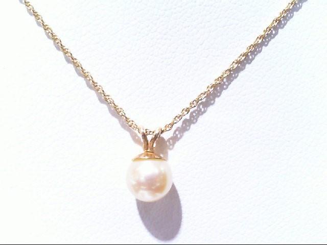 Pearl Gold-Stone Pendant 14K Yellow Gold 1.7g