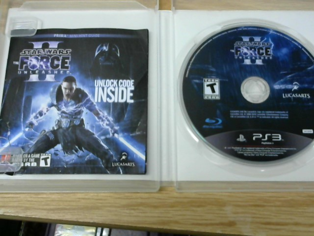 SONY Sony PlayStation 3 Game STARS WARS THE FORCE UNLEASHED II