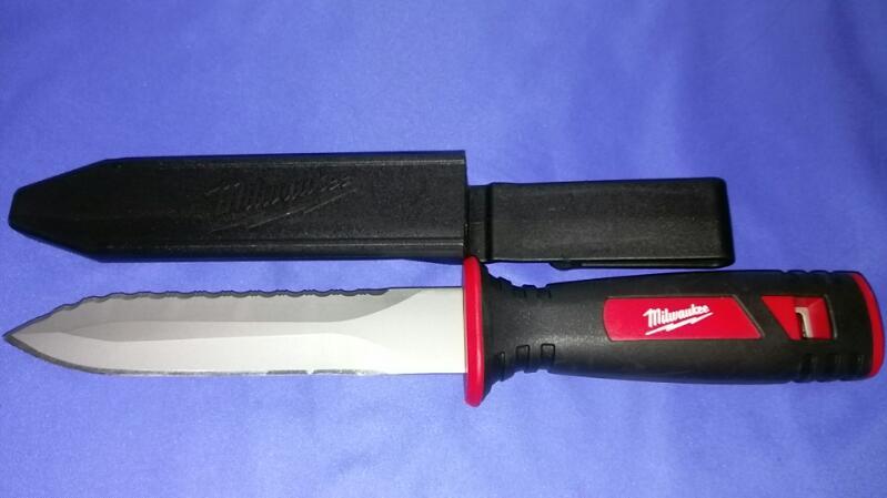 "MILWAUKEE 6"" HUNTING KNIFE WITH SHEATH 48-22-1920"