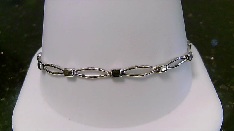 "7"" Two Tone Gold Fashion Bracelet 5.9G"