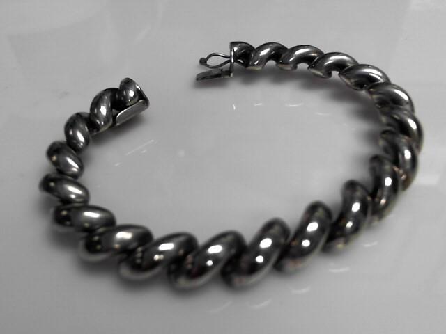 "Sterling Silver San Marcos Bracelet .925 29.6g 7"""