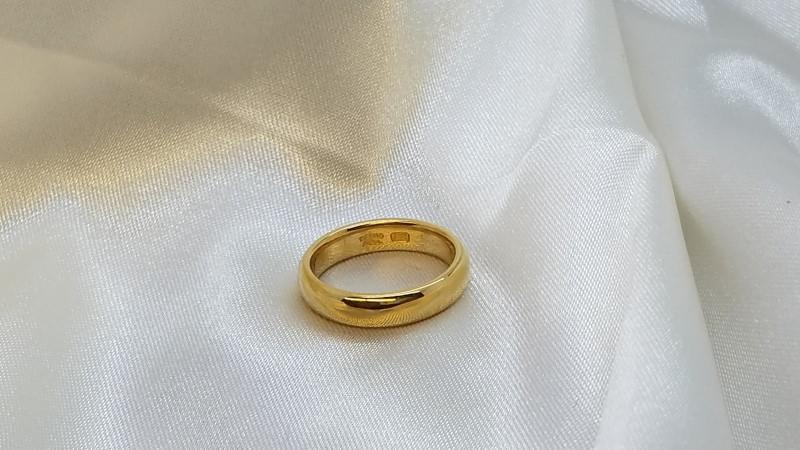 Tiffany & Co Lady's Gold Wedding Band 22K Yellow Gold 6.3g Size:5
