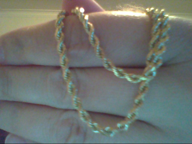 Gold Rope Chain 18K Yellow Gold 12.7g