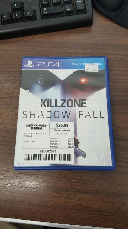 SONY Sony PlayStation 4 Game PS4 GAME KILLZONE SHADOW FALL