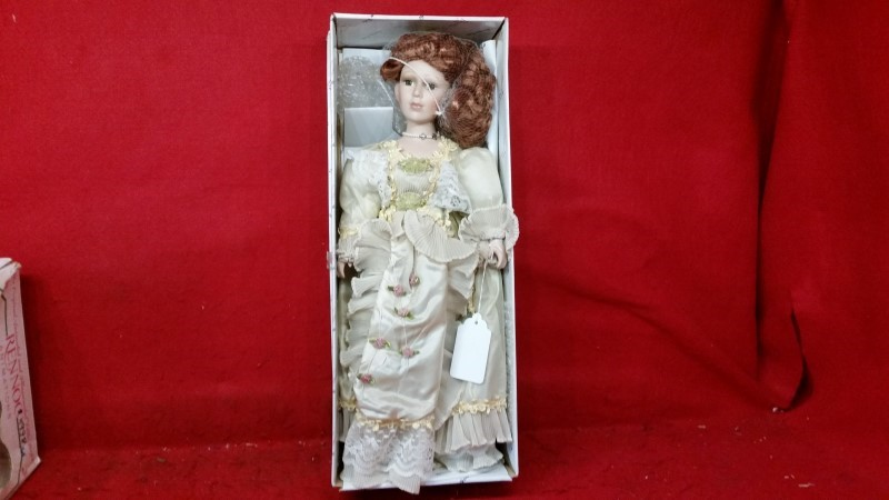 Duck House Porcelain Doll Ginger w/ Dress