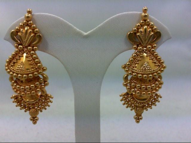 Gold Earrings 20K Yellow Gold 9.3g