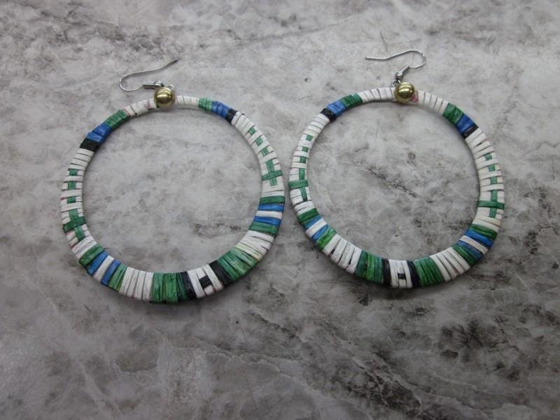 PAIR OF NATIVE AMERICAN QUILL EARRINGS