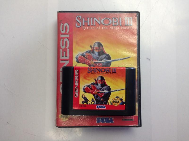 Shinobi III 3: Return of the Ninja Master Sega Genesis -w/ BOX