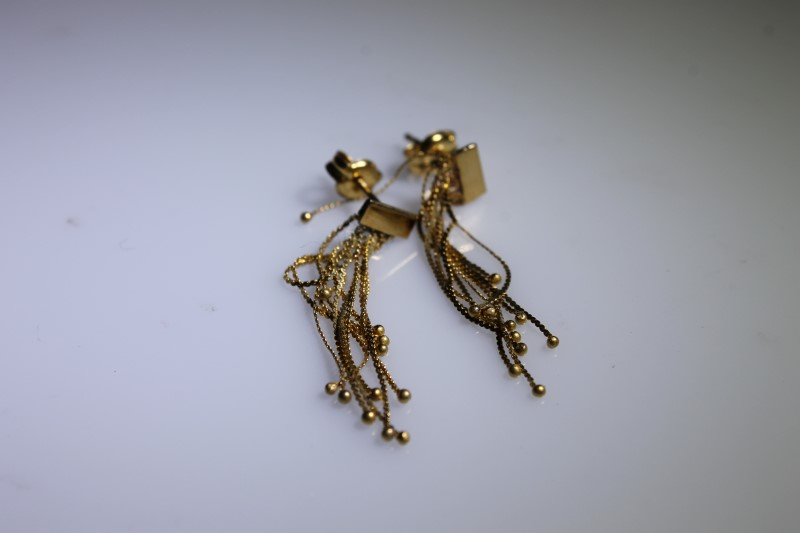 Gold Earrings 10K Yellow Gold 0.9g