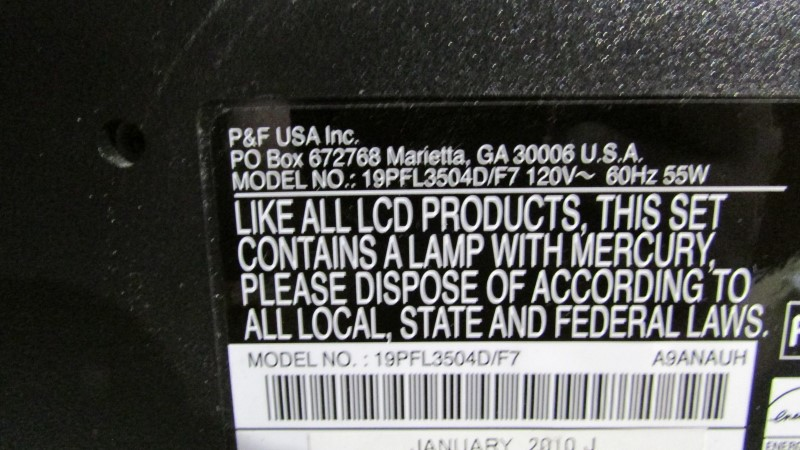 PHILIPS Flat Panel Television 19PFL3504D