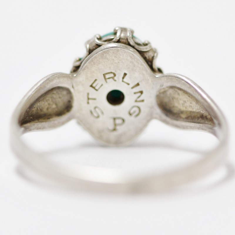 Women's Sterling Silver Bezel Turquoise Ring Size 6