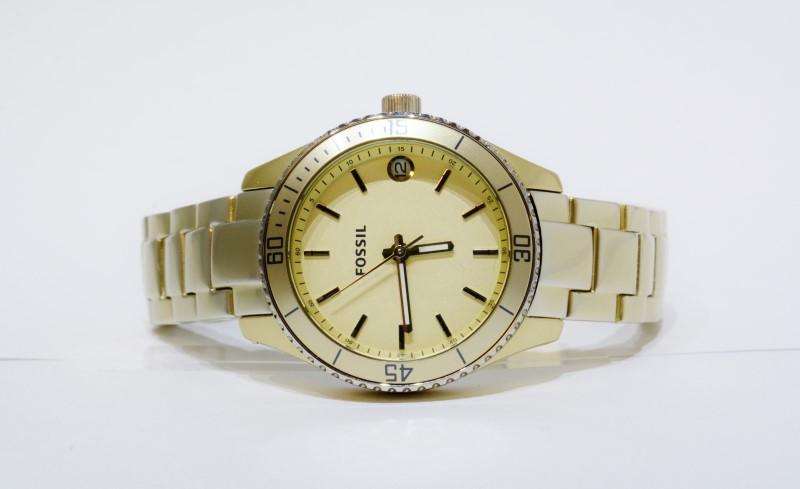Fossil Stella Mini Aluminum Gold Toned Women's Watch ES-2902