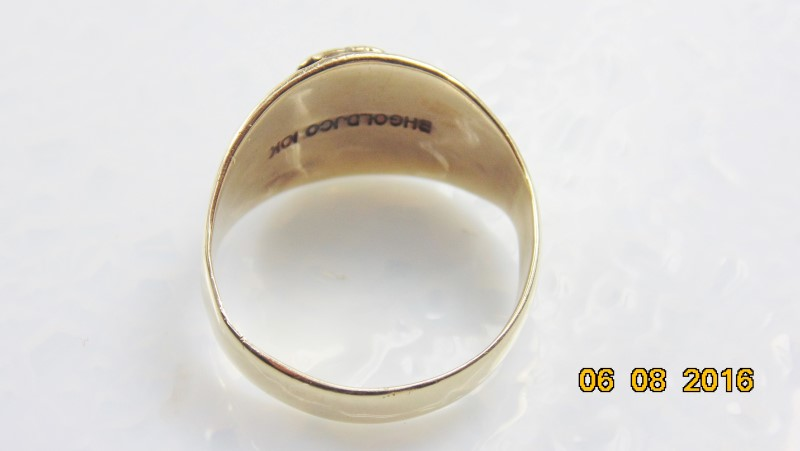 MENS BHG RING 10K 6.7G SZ9.5