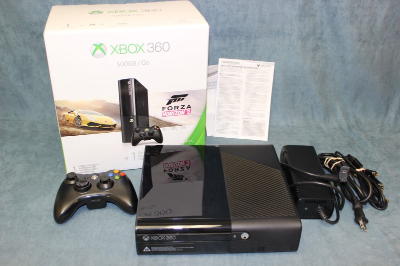 Microsoft Xbox 360 E Bundle 500GB, Black - Model# 1538