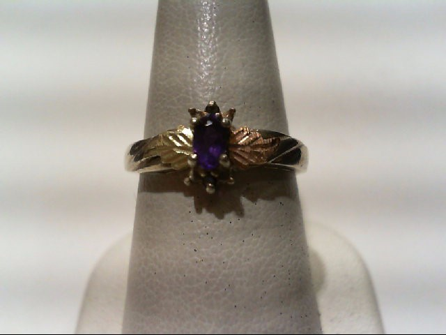 Amethyst Lady's Silver & Stone Ring 925 Silver 2.75g