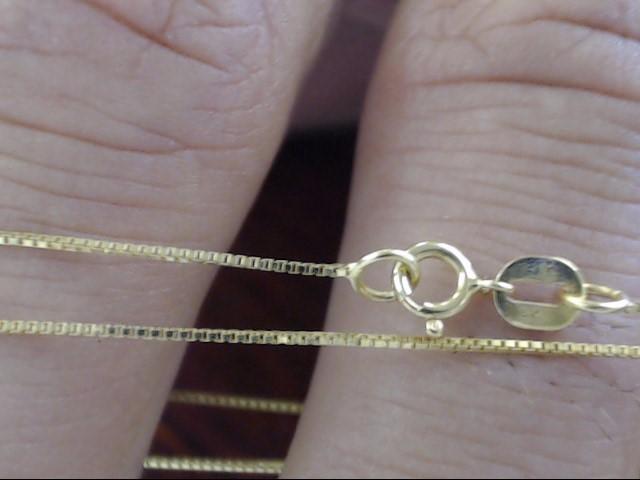 "18"" Gold Box Chain 14K Yellow Gold 0.8g"