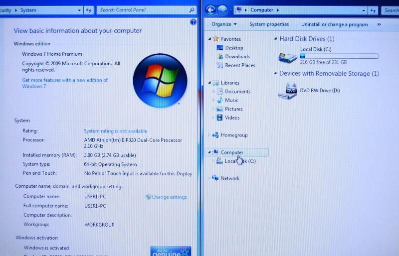 Toshiba Satellite L645D Laptop AMD Athlon II 2.10GHz 3GB 250GB HDD>