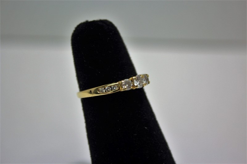 Lady's Diamond Engagement Ring 9 Diamonds .40 Carat T.W. 14K Yellow Gold 2.9g