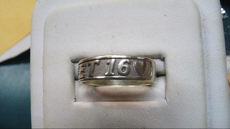 Sweet 16 Gold Ring 14K White Gold 3.1g Size:7