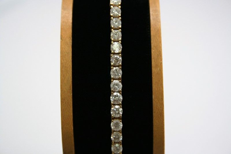 DIAMOND TENNIS BRACELET 14K YELLOW GOLD