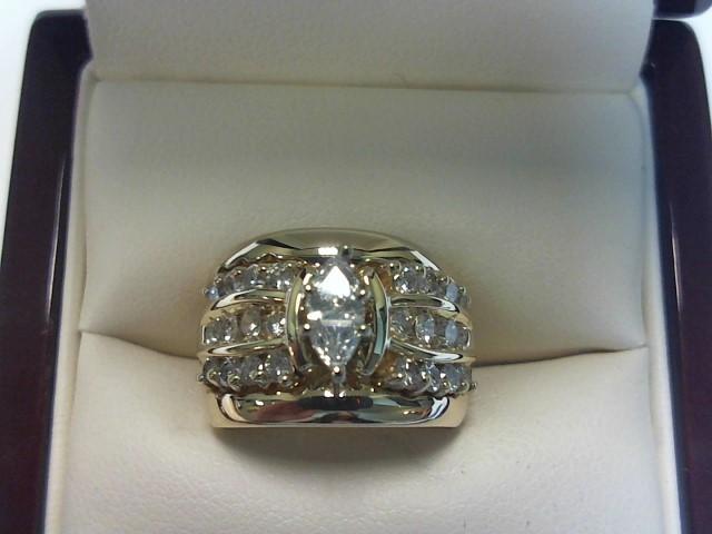 Lady's Diamond Wedding Set 25 Diamonds .97 Carat T.W. 14K Yellow Gold 7dwt