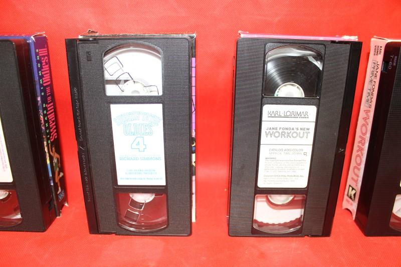 Excercise VHS Tape Lot Jane Fonda's & Richard Simmons **VHS TAPE LOT** **USED**