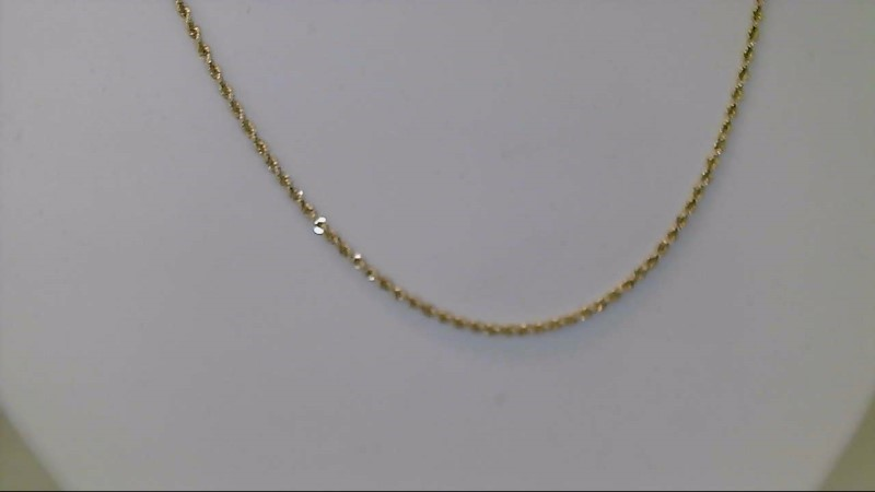 Gold Rope Chain 14K Yellow Gold 5.25g