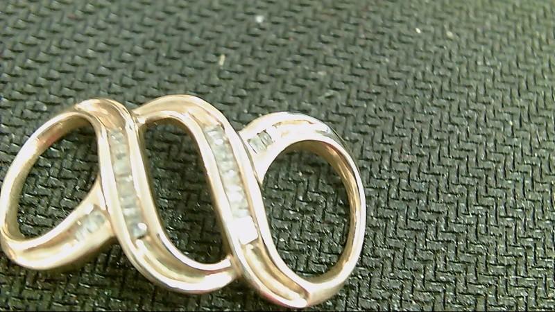 Gold-Multi-Diamond Pendant 28 Diamonds .28 Carat T.W. 10K Yellow Gold 2.9g