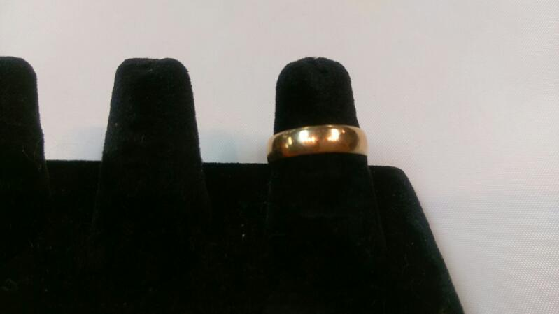 Lady's Gold Band Ring 14K Yellow Gold 2.7g Size:7.5