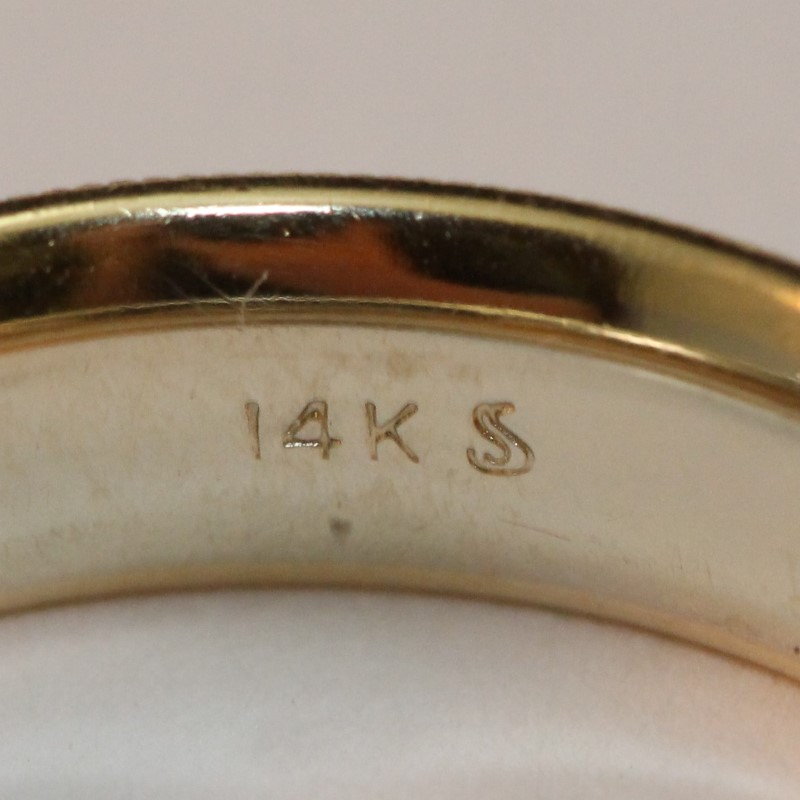 Gent's 14K Two Toned Wedding Band Size 8.5