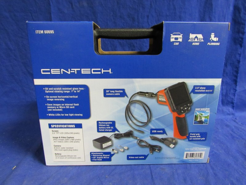 CEN-TECH HIGH RESOLUTION DIGITAL INSPECTION CAMERA W/ RECORDER
