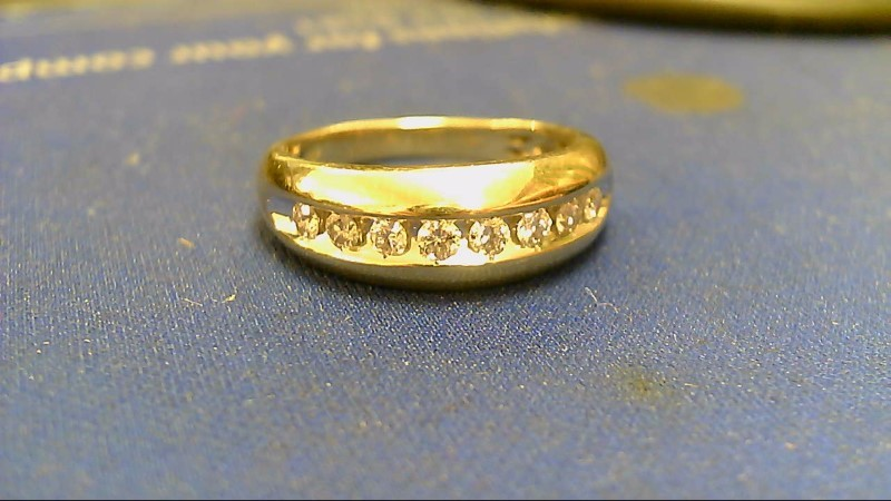Gent's Diamond Cluster Ring 8 Diamonds .80 Carat T.W. 10K Yellow Gold 4.1g