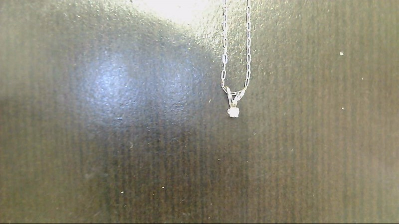 Diamond Necklace .02 CT. 14K White Gold 0.6g