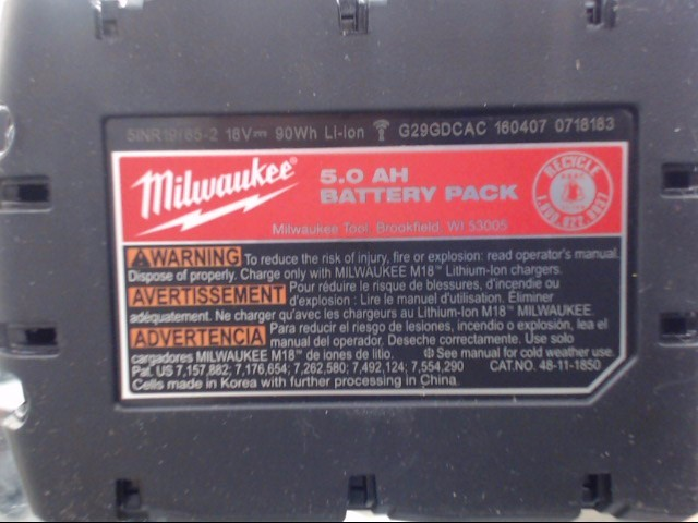 MILWAUKEE Battery 48-11-1850