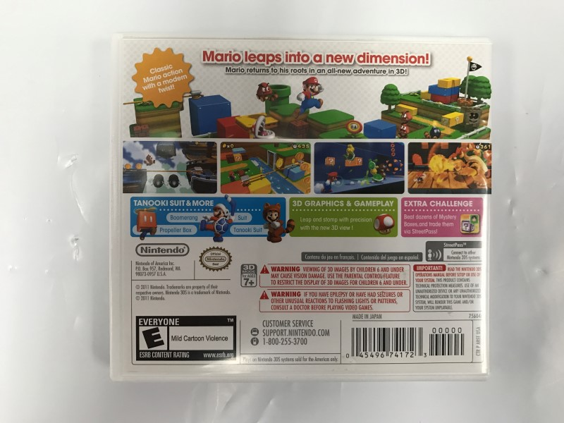 Nintendo 3DS Super Mario 3D Land *COMPLETE*