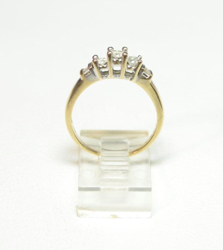 Lady's Diamond Engagement Ring 9 Diamonds .41 Carat T.W. 10K Yellow Gold 2.6g