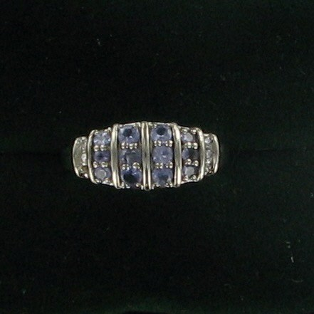 Purple Stone Lady's Stone & Diamond Ring 6 Diamonds .06 Carat T.W.