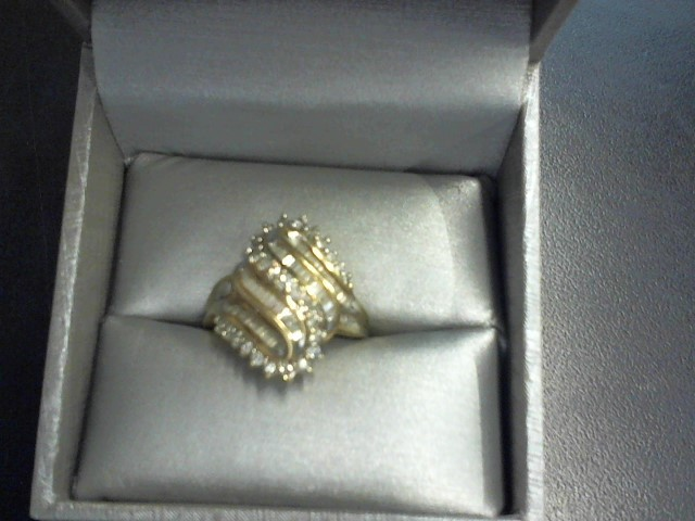 Lady's Gold-Diamond Anniversary Ring 77 Diamonds 2.31 Carat T.W.