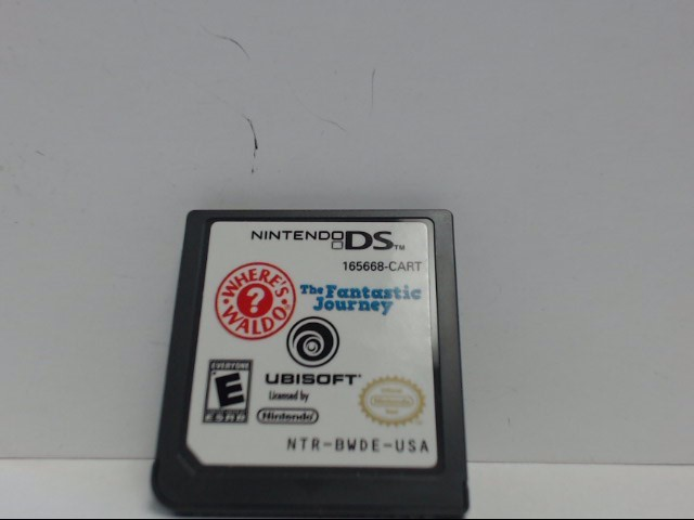 Nintendo DS Game WHERE'S WALDO? THE FANTASTIC JOURNEY Cartridge Only