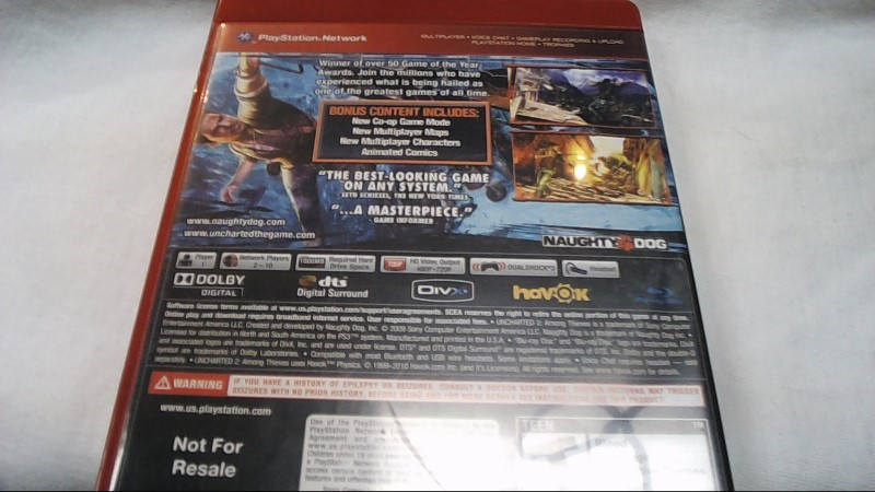 Sony PlayStation 3 Game UNCHARTED 2 GAME OF THE YEAR EDITION