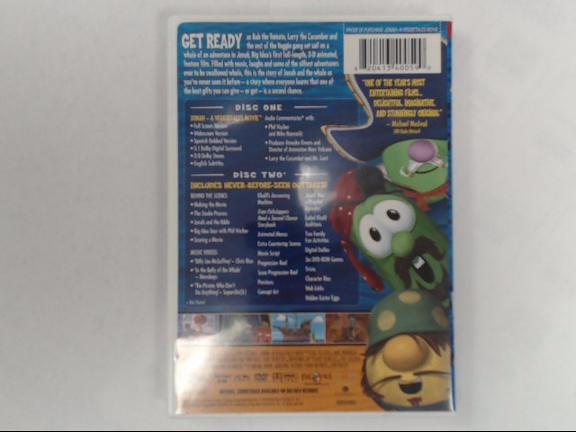 DVD MOVIE BIG IDEA'S JONAH A VEGGIETALES MOVIE 2-DISC COLLECTOR'S EDITION