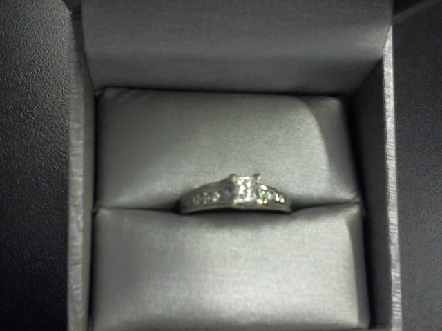 Lady's Diamond Engagement Ring 14 Diamonds .78 Carat T.W. 14K White Gold 3.7g