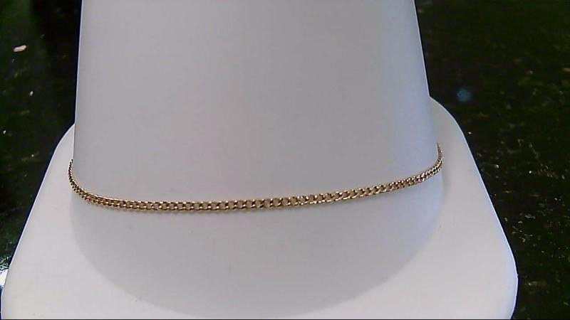 "8"" Gold Fine Bracelet 14K Yellow Gold 1g"