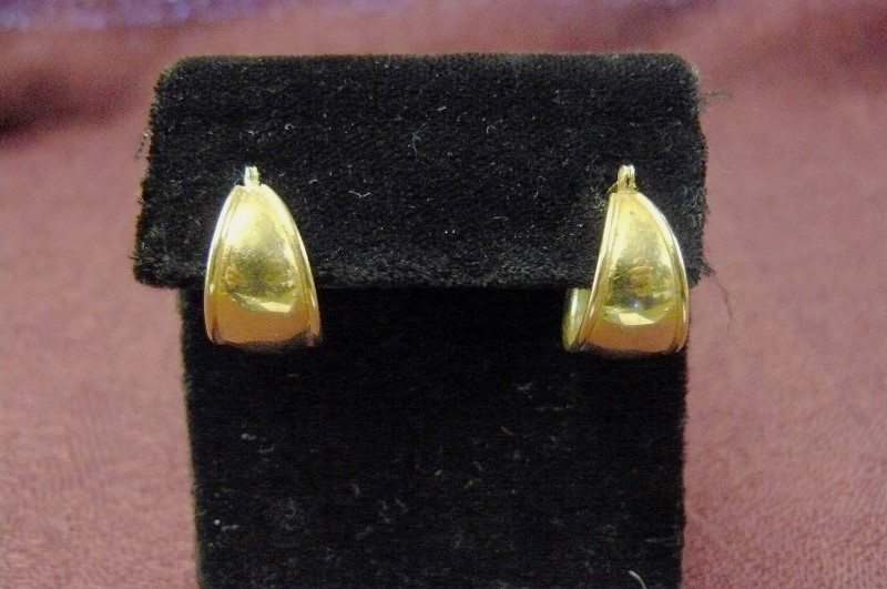 Gold Earrings 14K Yellow Gold 1.14dwt