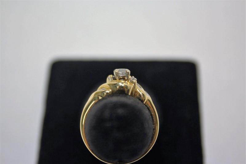 Lady's Diamond Fashion Ring 27 Diamonds .50 Carat T.W. 14K Yellow Gold 4.4g